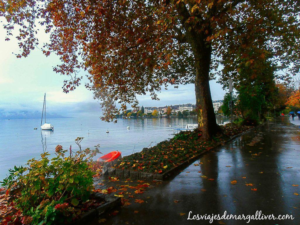 Paseo por la ribera del lago Leman en Montreux - los viajes de margalliver